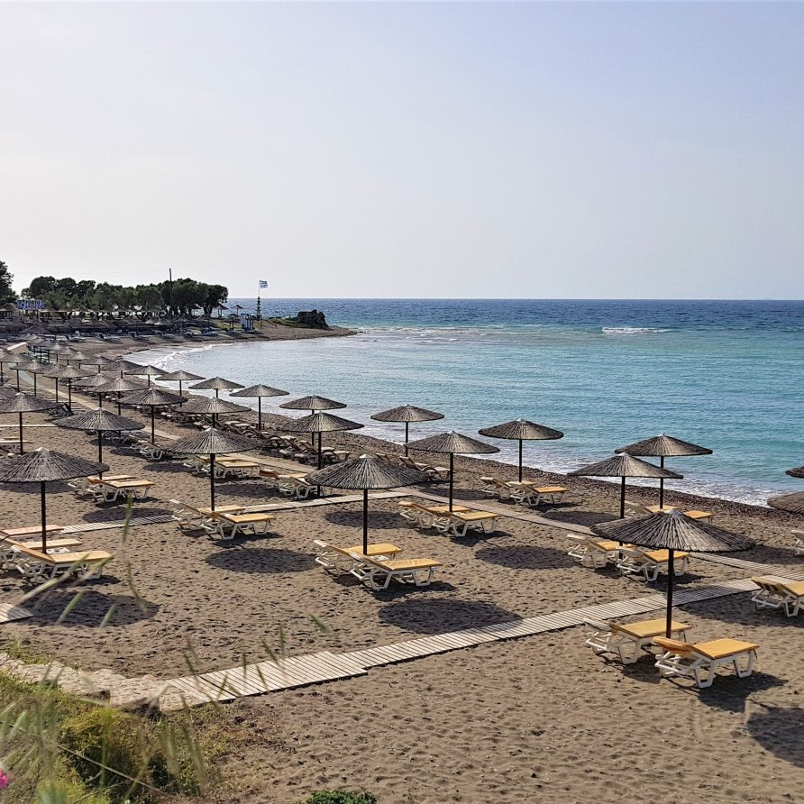old kamiros beach rhodes greece